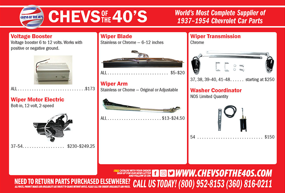 Chev's of the 40's Advertisement
