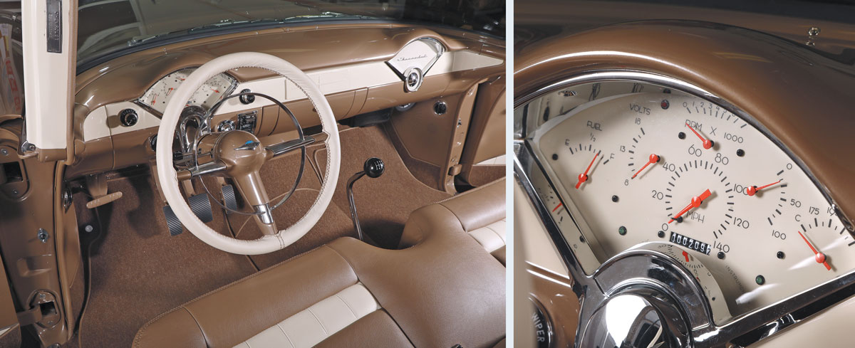 Driver's seat and meters for 1955 Chevy
