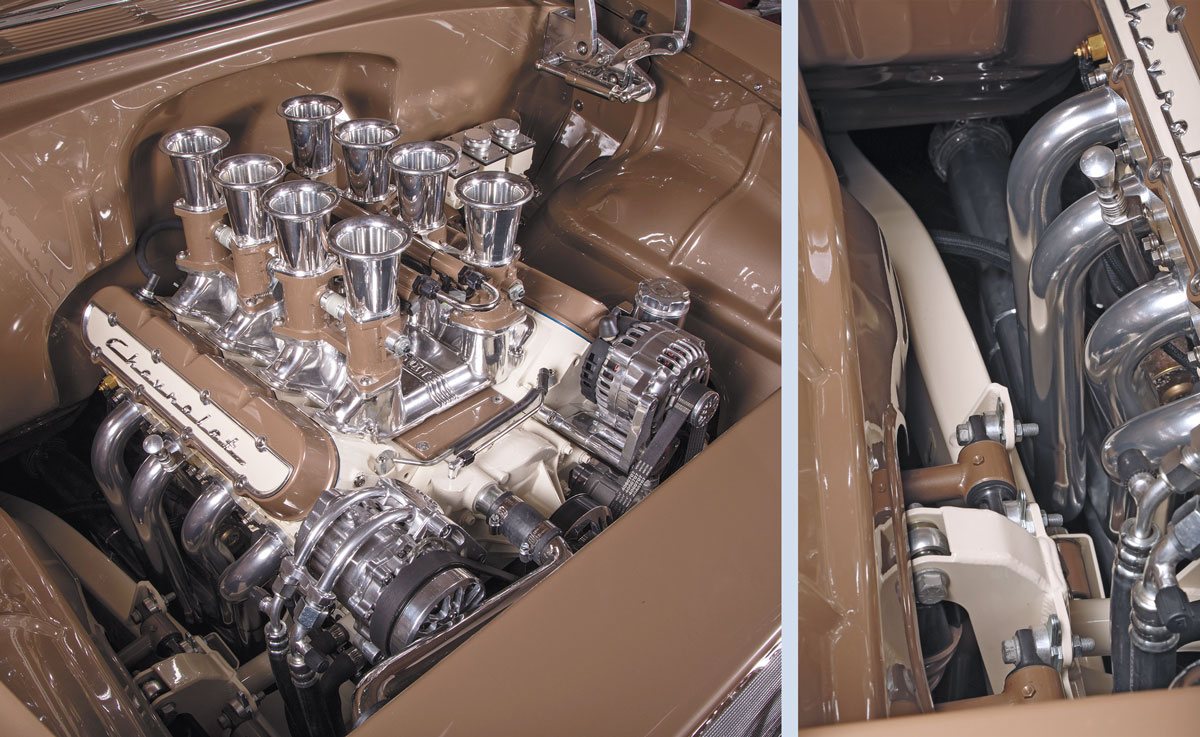 Engine of 1955 Chevy
