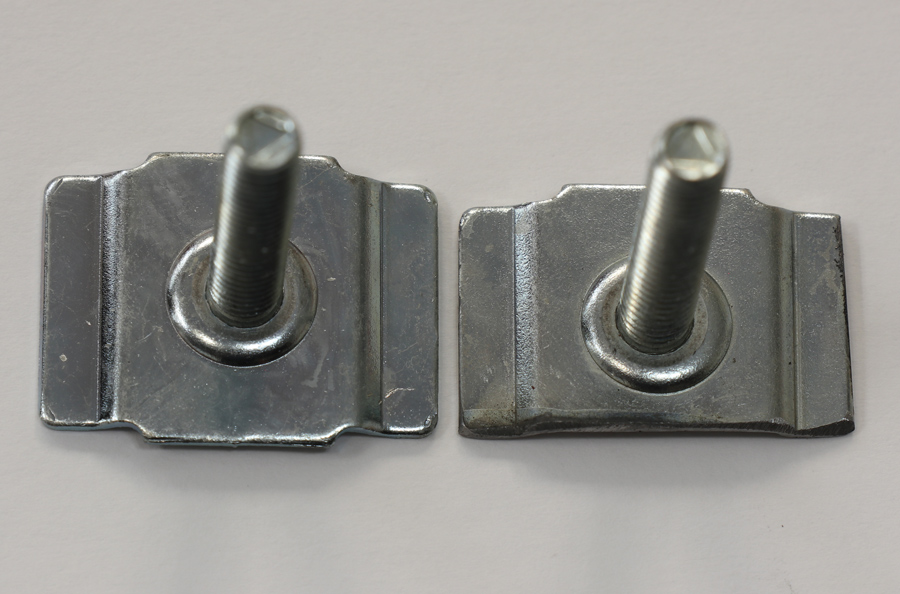 Look closely at these two Bed Wood and Parts–provided T-bolt fasteners